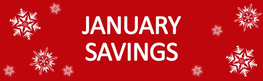 January christmas sale web banner seasonal savings