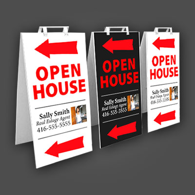 Outdoor Free-Standing Signs – Crezon Sandwich Board – WITH HANDLES