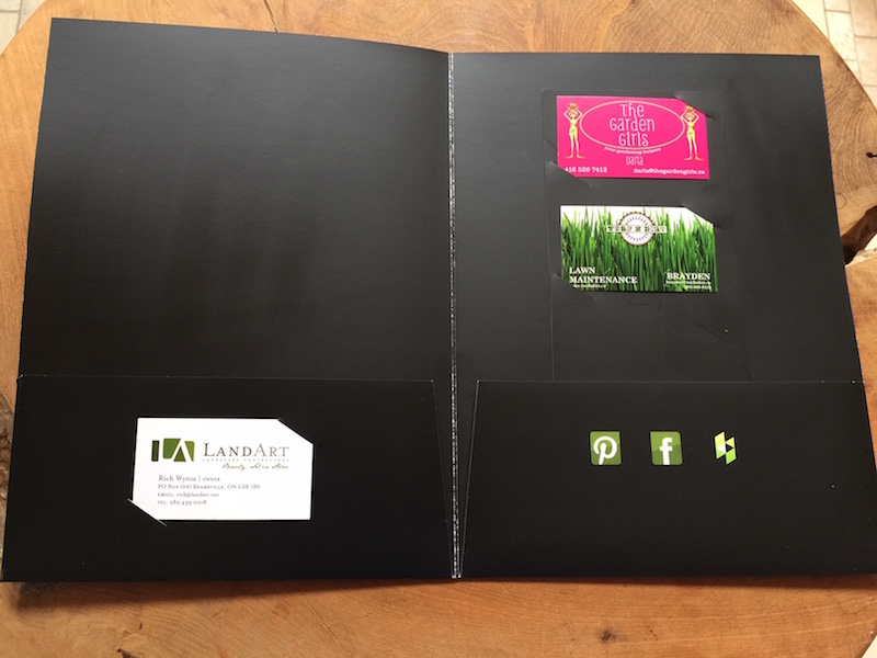 Fantastic pocket folders with business card holder ornament custom brochure presentation folder aom print colourmoves