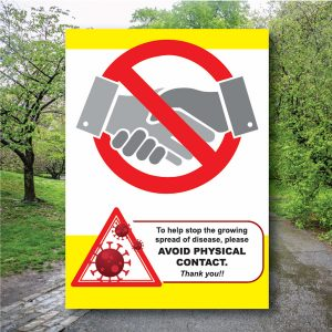 Counter Safety Signs – Avoid Physical Contact