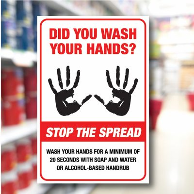 Safety Notice Signs – Did you wash your hands?