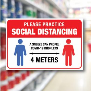 Safety Notice Signs – Social Distancing